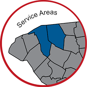 service areas map by county